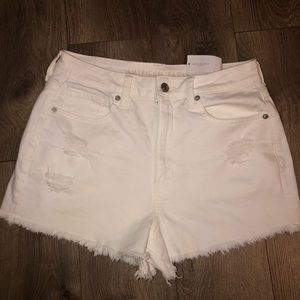 American Eagle Super Stretch White Shorts